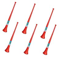 Vuvuzela – South African Style Collapsible Horn, Red (Pack of 6)