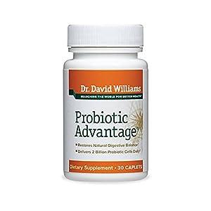 Dr. David Williams' Probiotic Advantage Digestive Health Supplement, 30 Caplets (30-day Supply)