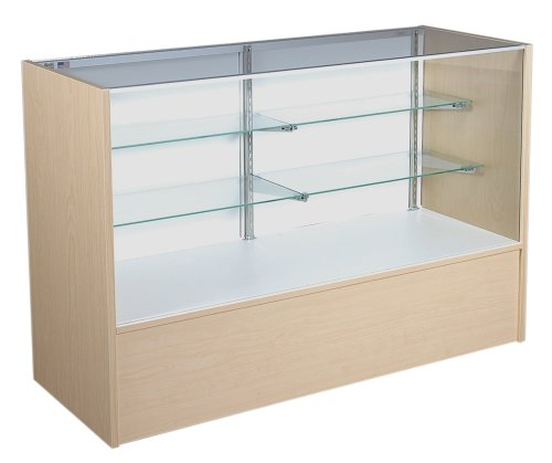 KC Store Fixtures 16322 Full Vision Showcase, 70-Inches Wide, Maple (Display Case 70 compare prices)