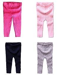 Comhoney Kids Leggings Warm Pants Ankle Length Child Pants Trousers Blue