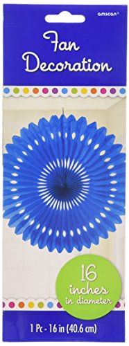 Hanging Fan Decoration (Solid) Party Accessory