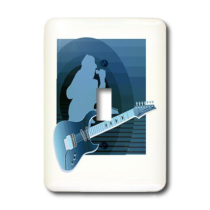 Lsp_175917_1 Susans Zoo Crew Music Instrument Guitar - Electric Guitar Singer Invert Blue - Light Switch Covers - Single Toggle Switch