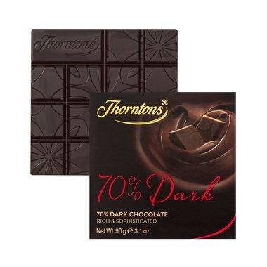 Thorntons Choc Blocks 70% Dark Chocolate Bar 80G (Thornton Chocolate compare prices)