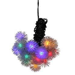 Pinron Solar Powered Fairy String Lights, 15ft 20 LED Ball Decorative Lighting for Patio, Garden,Indoor,Outdoor,Yard, Trees on Christmas,Party,Wedding,Other Holidays Etc.