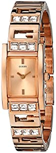 GUESS Women's U0200L1 G-Iconic Sophistication Crystal Rose Gold-Tone Watch