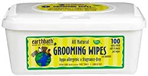 Earthbath All Natural Hypo-Allergenic and Fragrance-Free Grooming Wipes, 100 Wipes