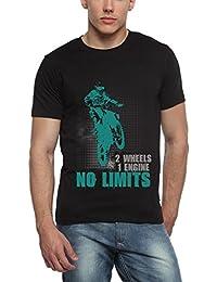 Adro Men's Round Neck Cotton T-Shirt (Black)