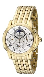 Accurist Grand Complication Men's Quartz Watch with Silver Dial Chronograph Display and Gold Stainless Steel Plated Bracelet GMT120P