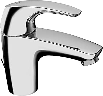 Blanc Robinet M/élangeur Haut de Salle de Bain pour bassin cascade,Mitigeur Lavabo En Chrome