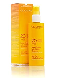 Clarins Moderate Protection UVB/UVA 20 Sun Care Milk-Lotion Spray, 5.3 Ounce