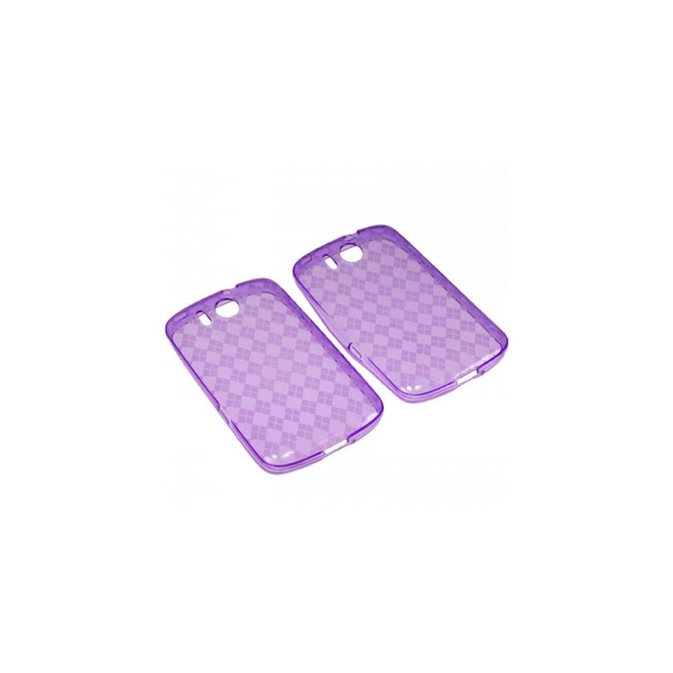 BW TPU Sleeve Gel Cover Skin Case for AT&T Huawei Express M650  Purple Checker Cell Phones & Accessories