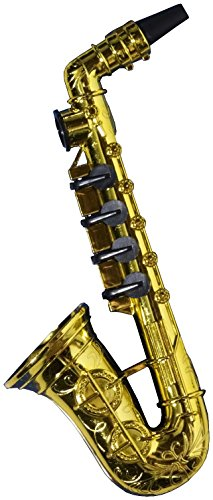 Forum Novelties Gold Saxophone Party Kazoo Play Musical Instrument - 1