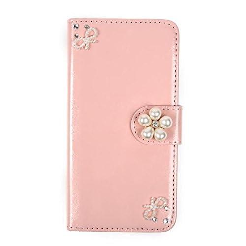 (ライフィーズ) Lifees iPhone 6s / 6 / 6s Plus / 6 Plus 手帳型ケース 折りたたみ式 パール ビジュー ハンドメイド (iPhone 6s / 6, ピンク)