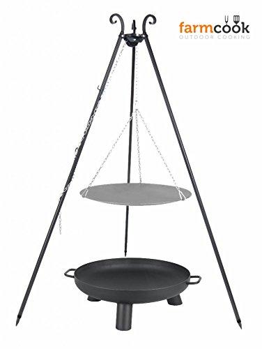 Dreibein mit Lagerfeuerpfanne 33 cm und Feuerschale Pan 37 60 cm günstig bestellen