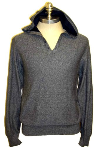 Mens Topman Hooded Jumper Grey sz Large Chest 40/41