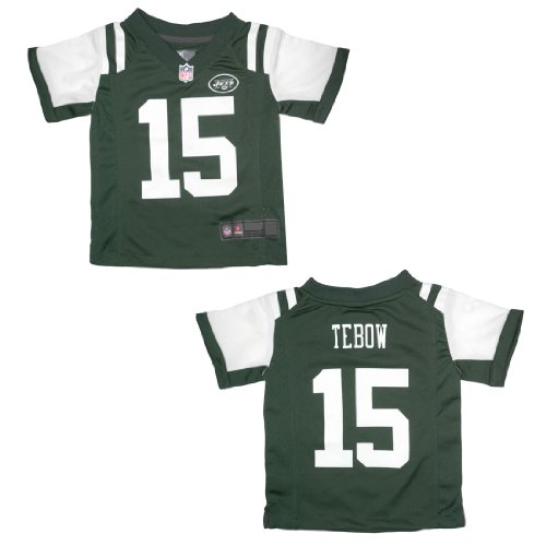 New York Jets Tebow #15 Toddler Fit Short Sleeve Jersey Shirt 2T Green & White at Amazon.com