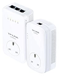 TP-LINK TL-WPA8630P Kit AV1200 Powerline Dual Band AC1200 Wi-Fi Kit, Range Extender/Wi-Fi Booster/Hotspot with AC Pass Through, Multiple Ethernet Ports, Starter Kit/Twin Pack