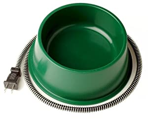 Farm Innovators QT-1 1-Quart Heated Bowl, 25 Watts, Green