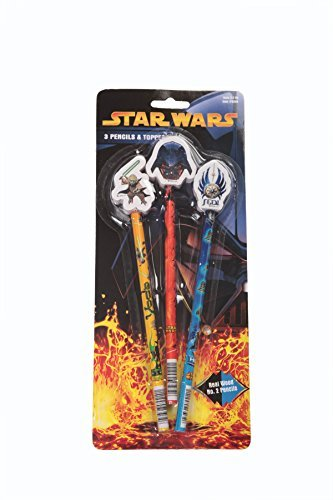 Star Wars Pencils & Toppers (3 Pack)