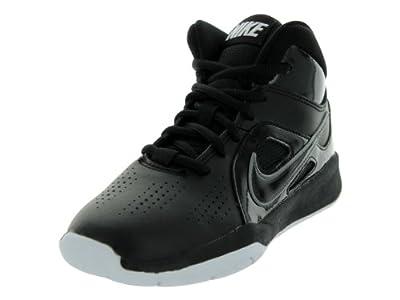 Nike Team Hustle D 6 Black/White Boys Basketball Shoes