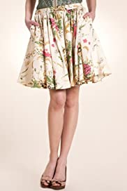 Limited Collection Floral Print Flared Prom Skirt [T62-1239I-S]