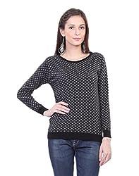 Kalt Women's Cotton Sweater(W107 L_Black_Large)