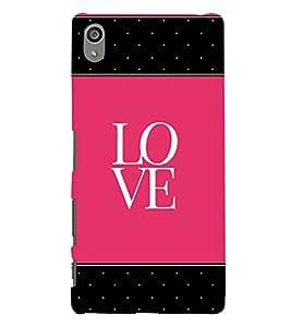 Love Pink Black Dots 3D Hard Polycarbonate Designer Back Case Cover for Sony Xperia Z5 Premium (5.5 Inches) :: Xperia Z5 Plus
