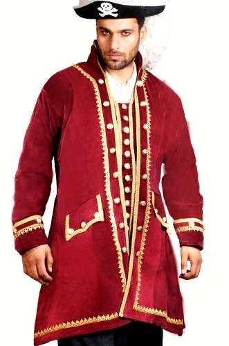 Captain Easton Coat Boardeaux Pirate Coat Pirate Dress Costume, XL