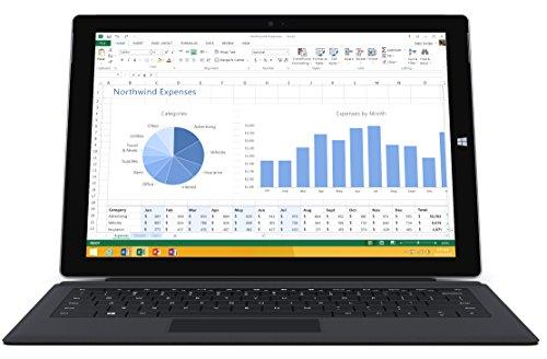 Microsoft Surface Pro 3 512GB WiFi Tablet + Black Type Keyboard Bundle (12-Inch Touchscreen, 1.7GHz Intel Core i7, 8GB Ram)