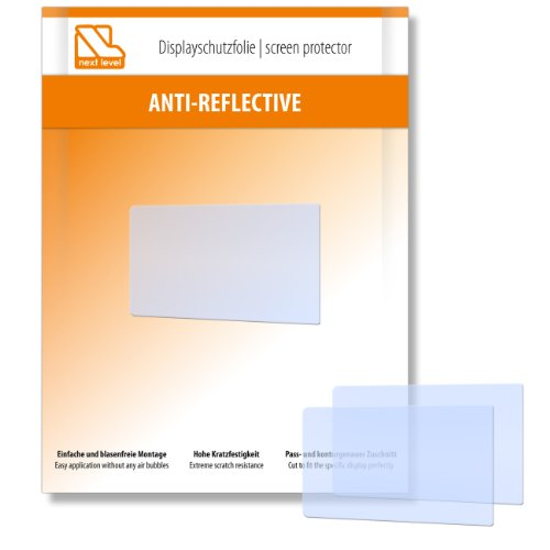 2 x Next Level Displayschutzfolie Anti Reflective für Pentax WG10 / WG-10 - Displayschutz antireflektierend und hartbeschichtet! PREMIUM QUALITÄT - Made in Germany