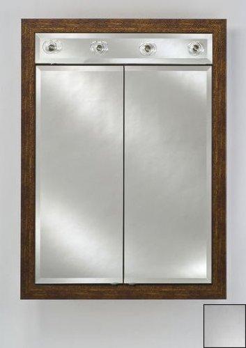Signature Double Door Medicine Cabinet Lights Finish: Jewel Cut Bevel, Size: 24