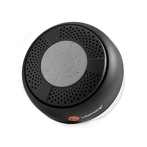 Bluetooth Shower Speaker, TaoTronics Water Resistant Portable Wireless Shower Speaker (Crisp Sound, Build-in Microphone for Hands-Free Calling, Solid Suction Cup)