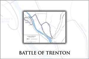 Amazon Battle Of Trenton Map  24quotx36quot Poster Prints