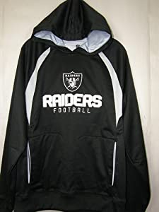 Oakland Raiders Reebok Trainer Black Hooded Sweatshirt by Reebok