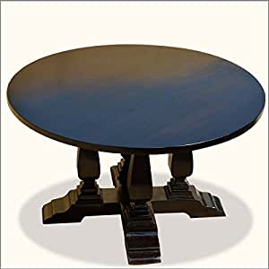 Cruciform Base Baluster 60 Inches Pedestal Round Dining Table Tables