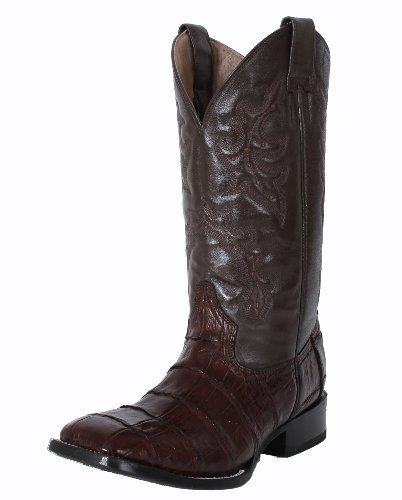 83d37f0c0b Circle G Men s Econo Line Chocolate Caiman Belly Boots 11 D ...