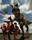 ブロマイド写真★海外ドラマ『プライミーバル』/恐竜から逃げるアビー(ハンナ・スピアリット)&ダニー(ジェイソン・フレミング)&コナー(アンドリュー・リー・ポッツ)