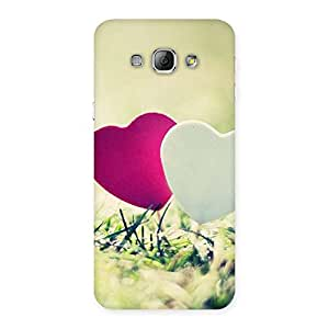 Delighted Heart Couple Multicolor Back Case Cover for Galaxy A8