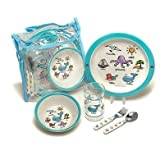 Baby Cie Childrens Melamine Dinnerware Lunch Set - La Mer