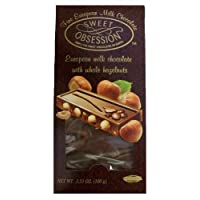 Global Brands Sweet Obsession Milk Chocolate Bar with Whole Hazelnuts, 3.5-Ounce (Pack of 8)