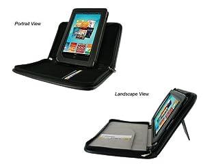 rooCASE Executive Leather Portfolio (Black) Case Cover with Landscape / Portrait View for Barnes and Noble NOOK Tablet / NOOKcolor Nook Color eBook Reader (NOT Compatible with NOOK HD)