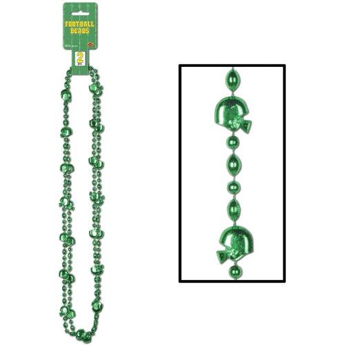Football Beads (green)    (2/Card)