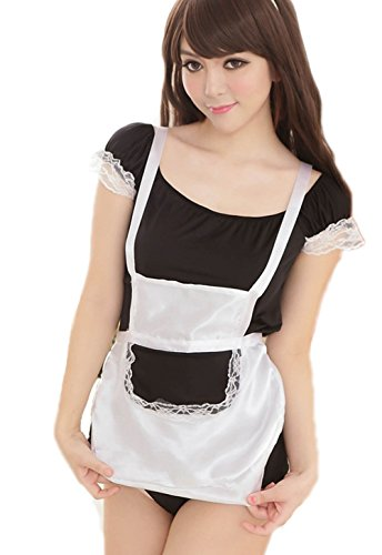 Vakind® Sexy lingerie French Maid Halloween Costume Cosplay Dress Babydoll Outfit