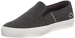 Lacoste Women\'s Gazon W4 Fashion Sneaker, Dark Grey, 8 M US