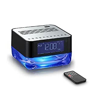junjiada classic portable wireless bluetooth speaker with alarm clock and radio. Black Bedroom Furniture Sets. Home Design Ideas