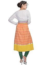 Nishiva Women's Multi Color Cotton Kurta NWK1014_S