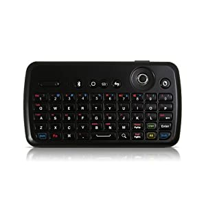 Satechi ST-K100 Bluetooth Illuminated Keyboard with Integrated Jog Slider Mouse ideal for Apple Tv 3(6.1) PS3, HTPC, PC & Mac Computers, Samsung Galaxy S4, S5, Note 2, Note 3, Galaxy Tab 10.1, iPhone 6, 5S, 5C, 5, 4S & 4, iPad, iPad Mini, iPad Air, Nexus 4, HTC One, Nokia Lumia 520, Lumia 1020, and other smartphones and tablets