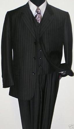 classic 3 button 3 button pinstripe suit vested 3