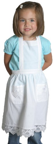 Lace Victorian Maid Costume Child's Apron Whtie