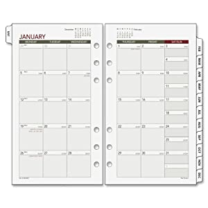 Day Runner 2014 Monthly Planner Refill, 3.75 x 6.75 Inches (063-685Y)